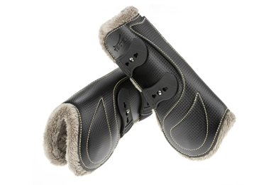 Tekna Carbon Fiber front horse boots with new fleece