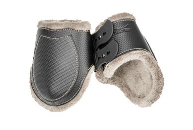 Tekna Carbon Fiber fetlock horse boots with new fleece