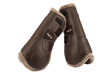 Tekna injection front horse boots with new fleece
